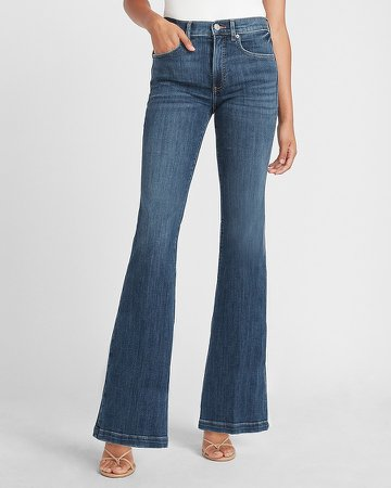 High Waisted Bell Flare Jeans