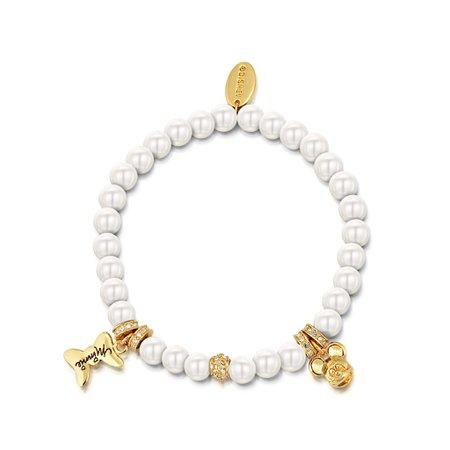 Disney Minnie and Mickey Pearl Bracelet – Couture Kingdom