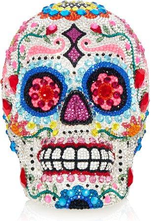 Calavera Sugar Skull Crystal Clutch