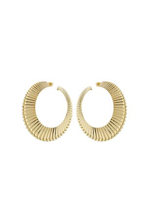 18kt Yellow Gold Plated Earrings Gr. One Size