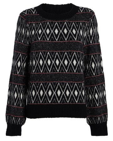 Rails | Ana Striped Fair Isle Sweater | INTERMIX®