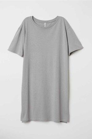 T-shirt Dress - Grey -   H&M US