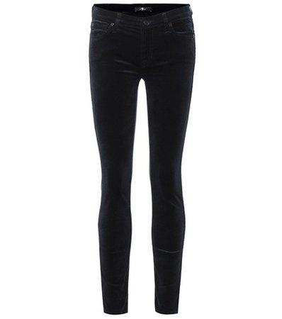 The Skinny mid-rise velvet jeans