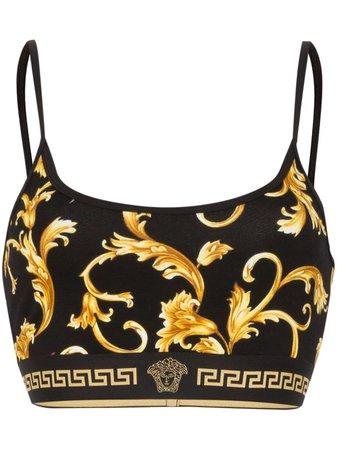 Versace Baroque Print Sports Bra AGD03003AV00214 Black   Farfetch
