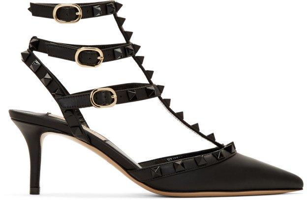Black Garavani Rockstud Heels