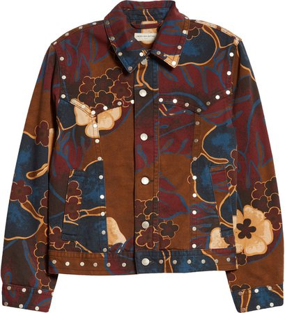 Vegass Quilted Floral Brocade Coat