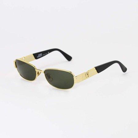 Versace Sunglasses Gold/Black Deadstock – True Vintage
