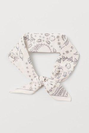 Scarf/Hairband - White