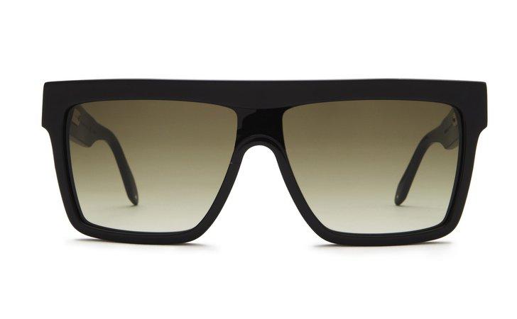 Victoria Beckham Flat Top Visor Sunglasses | Women's Shield Sunglasses | Women's Sunglasses | Designer Sunglasses Collection | Solstice Sunglasses
