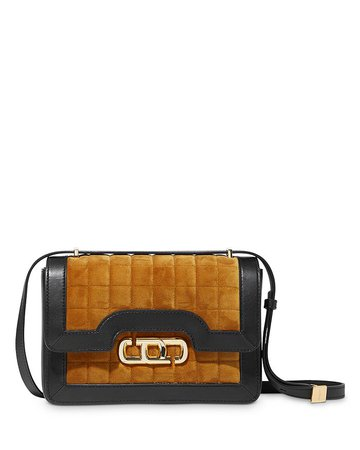 MARC JACOBS MARC JACOBS The J Link Small Quilted Velvet & Leather Shoulder Bag | Bloomingdale's