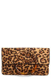Moschino Fan Leather Clutch   Nordstrom