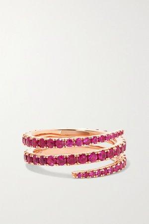 Rose gold 18-karat rose gold ruby ring | Anita Ko | NET-A-PORTER