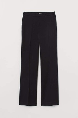 Suit Pants with Creases - Black