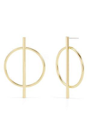 Brook and York Piper Frontal Hoop Earrings | Nordstrom
