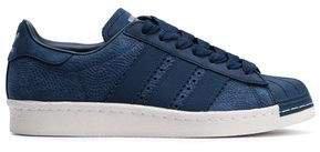 Superstar 80s Textured-nubuck Sneakers