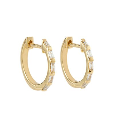 SHAY Jewelry - 18kt yellow gold hoop earrings with diamonds   Mytheresa