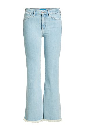 High-Waisted Cropped Flare Jeans Gr. 25