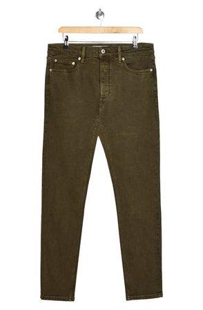 Topman Skinny Fit Jeans (Olive) | Nordstrom