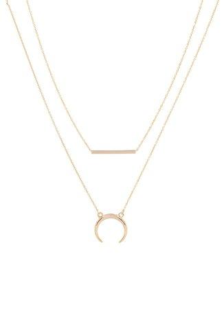 Les Cleias Gold Necklace  Bijenkorf