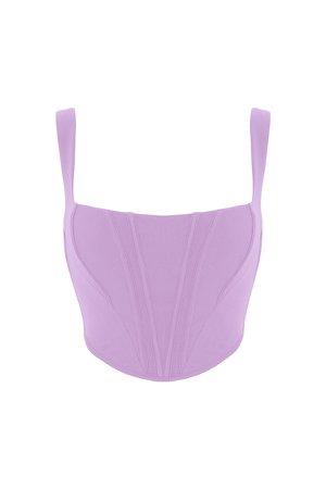 Clothing : Tops : 'Ninetta' Lilac Mesh Corset