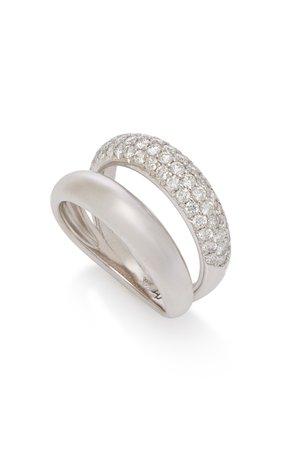 Gemini 14K White Gold Diamond Ring by Carbon & Hyde | Moda Operandi