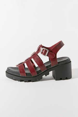 59 UO Lia Fisherman Heeled Sandal | Urban Outfitters