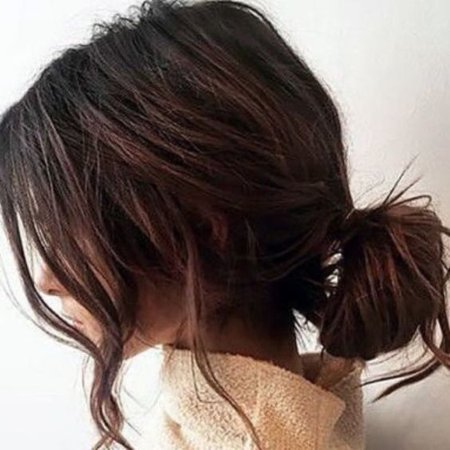 Brown Hair with Bun