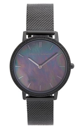 Rebecca Minkoff Major Mesh Strap Watch, 35mm | Nordstrom