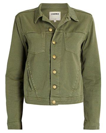 L'Agence Celine Denim Jacket   INTERMIX®