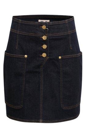 Baum und Pferdgarten Shannon Button-Front Cotton-Blend Skirt Size: 38