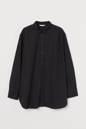 Cotton Shirt - Black