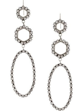 Isabel Marant Embellished Geometric Drop Earrings - Farfetch