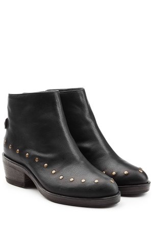Studded Leather Ankle Boots Gr. IT 35