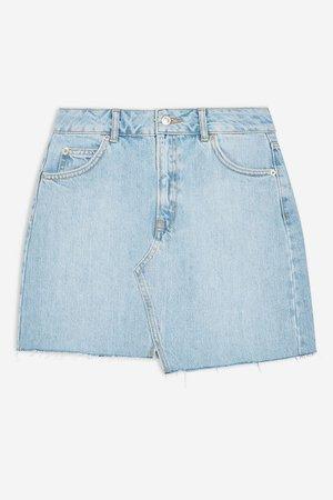Asymmetric Denim Mini Skirt - Skirts - Clothing - Topshop USA