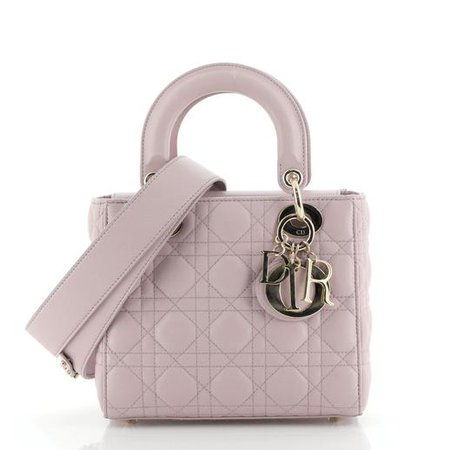 Christian Dior My ABCDior Lady Dior Bag Cannage Quilt Lambskin 589771 - Rebag