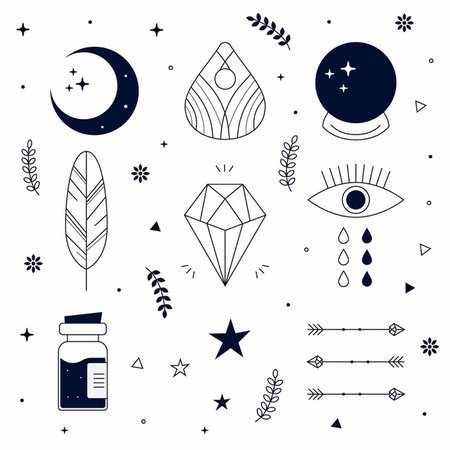 Free Vector | Esoteric elements illustration concept