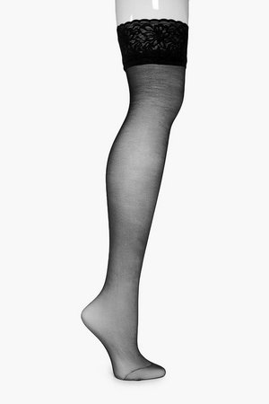 Lace Top Stockings | Boohoo