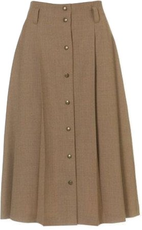 brown tweed skirt