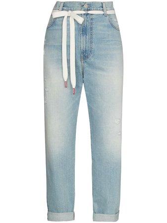 Denimist tie-waist straight-leg Jeans - Farfetch