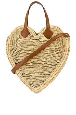 Poolside The Heart Beat Faster Tote Bag in Natural | REVOLVE