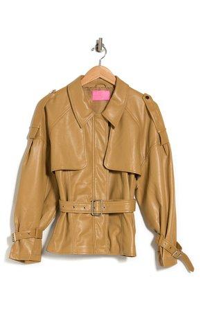 Sloane Belted Faux Leather Jacket | Nordstromrack