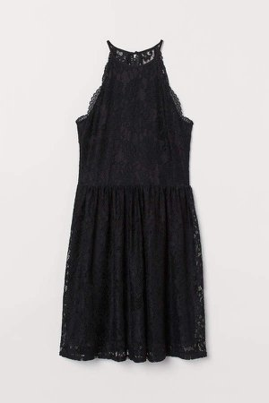 Short Lace Dress - Black