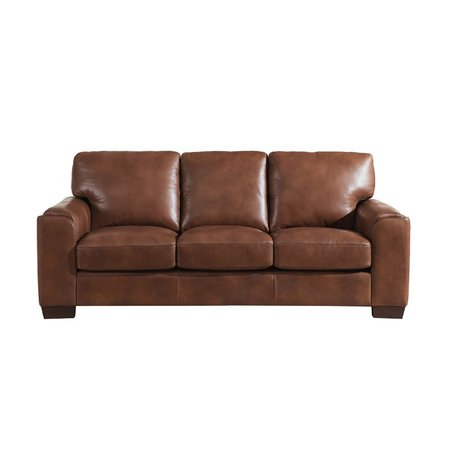 Orren Ellis Hadley Craft Leather Sofa | Wayfair.ca