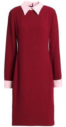 Aghal Two-tone Crepe Dress