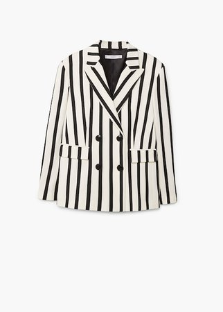 Striped suit blazer - Women | Mango USA