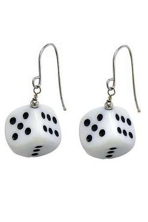 Lucky V. 2.0 Black & White Dice Earrings – Tunnel Vision