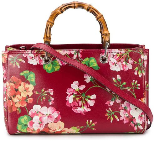 Pre-Owned Bamboo floral tote