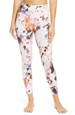 Zella Studio Lite High Waist Print 7/8 Leggings | Nordstrom