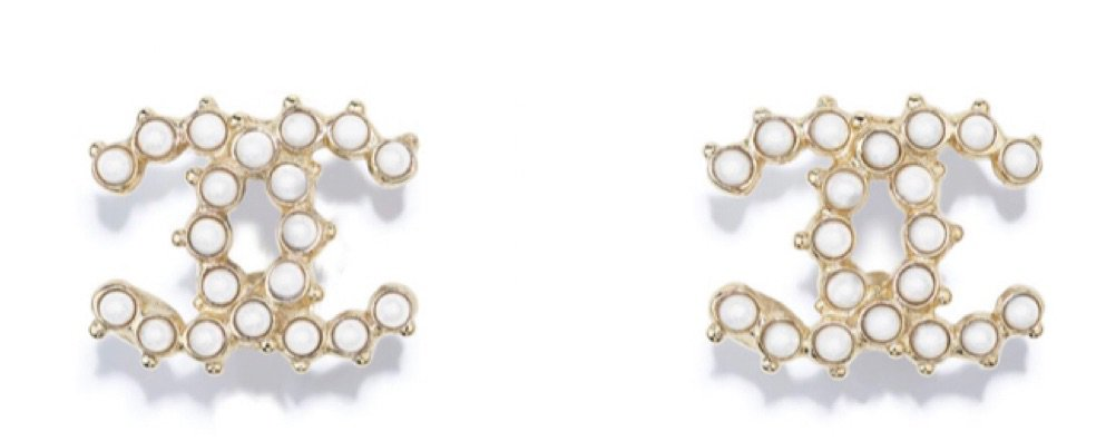 Chanel White Earrings