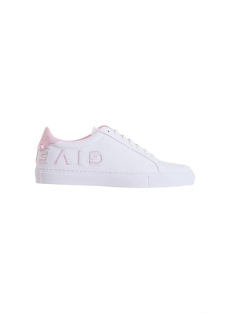 Givenchy Paris Urban Street Sneakers In White And Pink